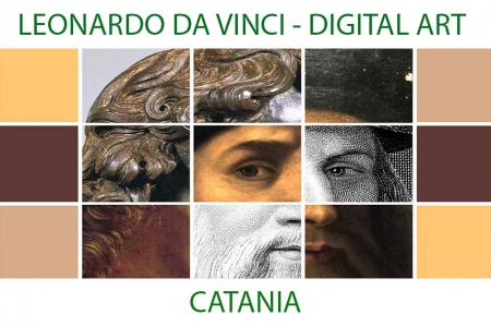 Leonardo Da Vinci - The faces of a genius - digital art project in Catania